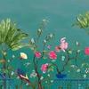 neo-tea-garden-papier-peint-fleuri