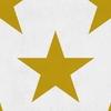 papier-peint-enfant-design-etoile-hollywood-jaune