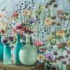 papier-peint-fleurs-papillons-détail