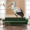 papier-panoramque-oiseau-heron-Stork-Mother-nude