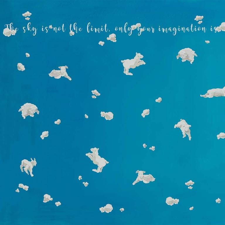 papier-peint-panoramique-enfant-bleu-ciel-mouton