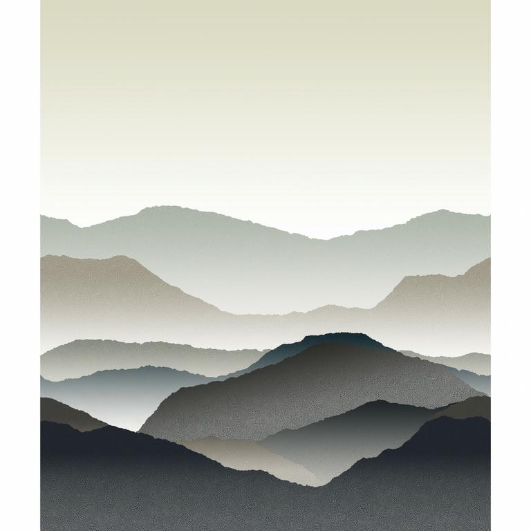 papier-panoramique-montagne-gris-noir
