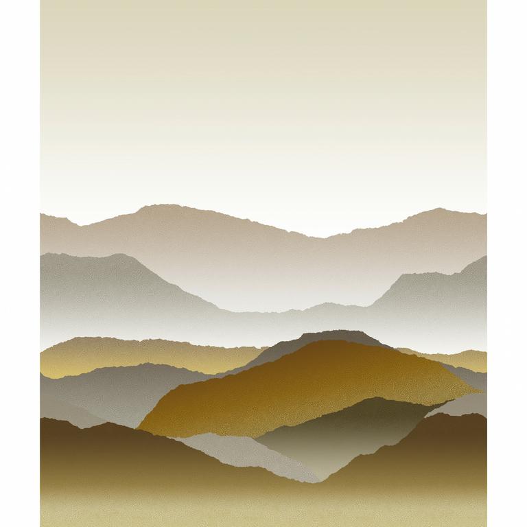 papier-panoramique-montagne-gris-or