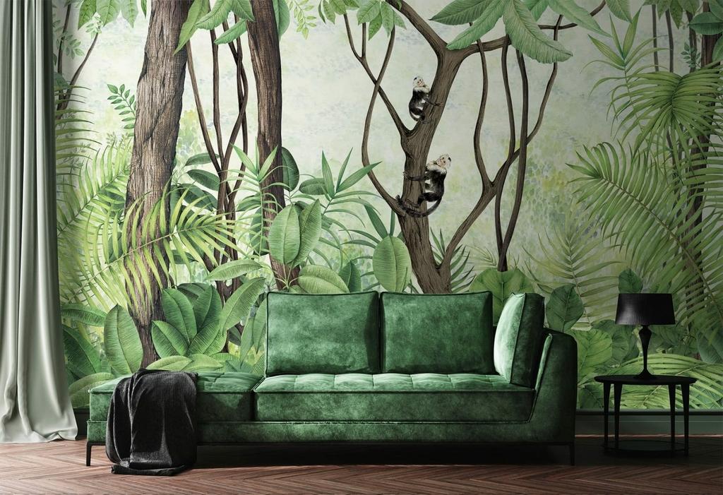decoration-vert-panoramique-jungle-coordonne
