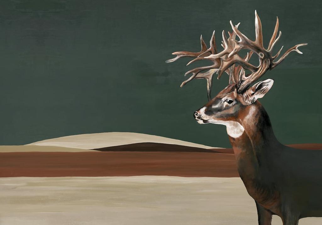 papier-peint-cerf-Great-Deer-Green-9500201