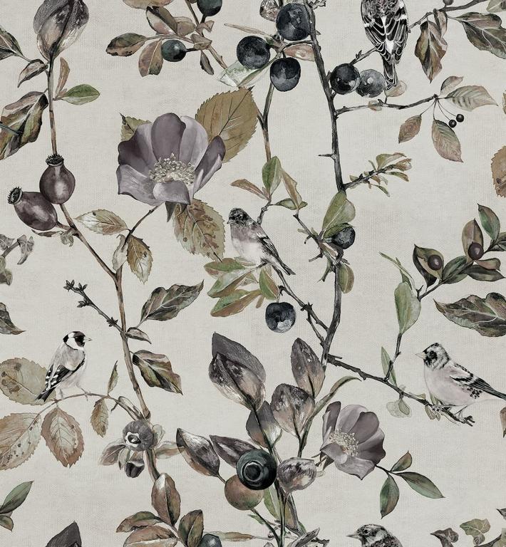 papier-peint-nature-oiseaux-fleurs-Goldfinch-Song-Pear-9500031