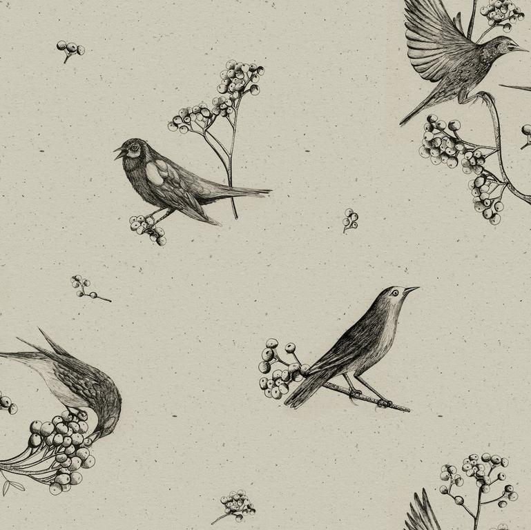 papier-peint-retro-oiseaux-Sweet-Birds-Black-9500072