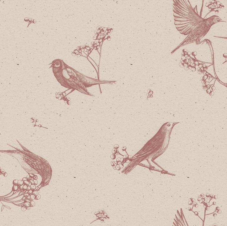 papier-peint-retro-oiseaux-Sweet-Birds-Rose-9500071