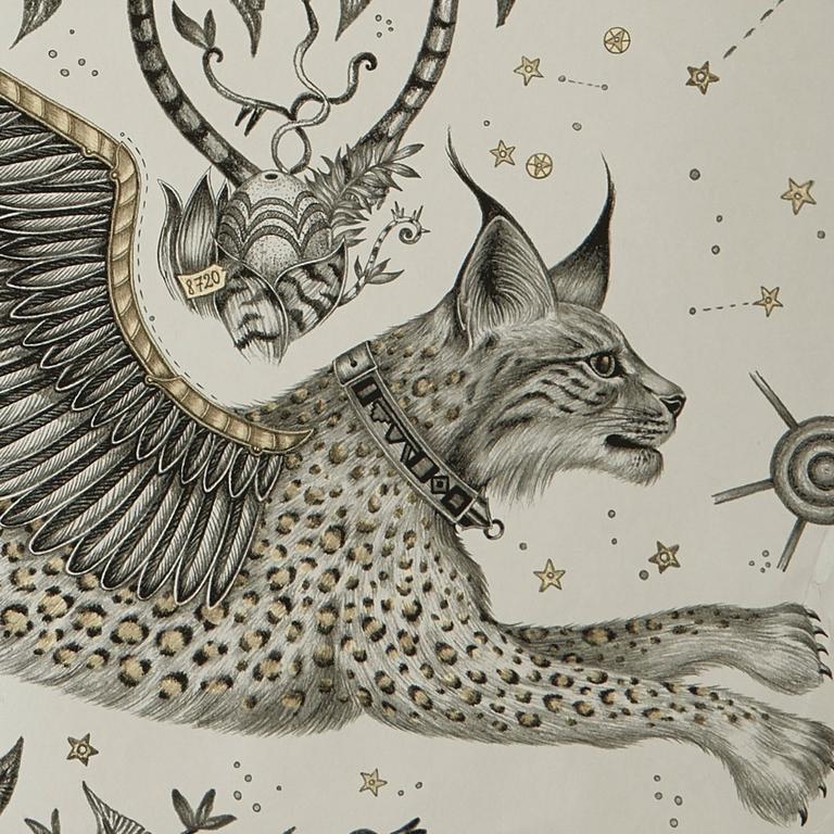 W0118-02-or-argent-lynx-papier-peint-clarke-clarke