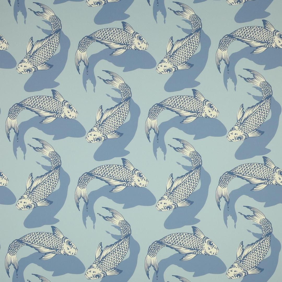 tissu-carpe-chinoise-bleu-manuel-canovas