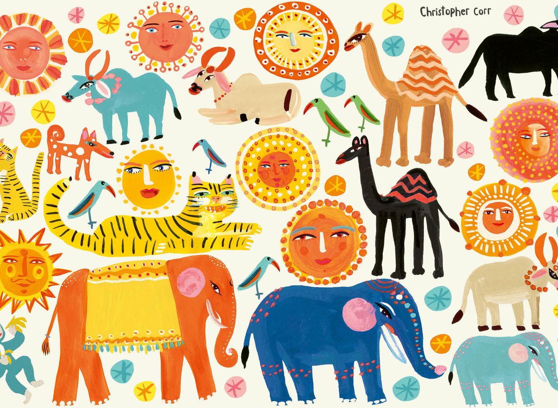 W578-01-sundance-wall-autocollants-muraux-enfant-animaux-inde