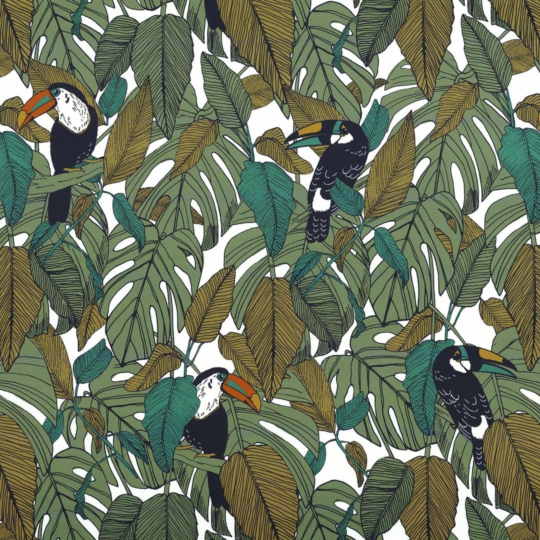 tissu-jungle-vert-kaki-emeraude-casamance-talamanca