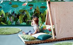 papier-peint-fresque-exotique-enfant-frann-preston-gannon