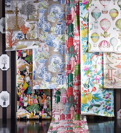 les nouveaux papiers peints manuel canovas papier peint le boudoir des etoffes. Black Bedroom Furniture Sets. Home Design Ideas