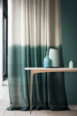 Tendance: un motif ou de la couleur juste en bas des rideaux ...