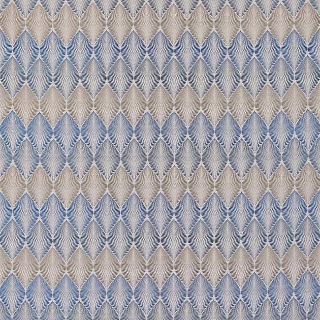 tissu-leaf-fall-osborne-and-little-verdanta-bleu-01