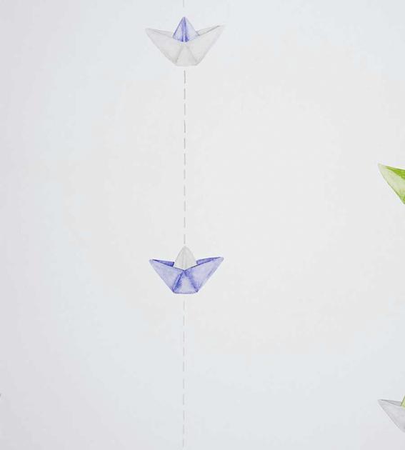 papier-peint-enfant-camengo-summer-camp-bateaux-bleu