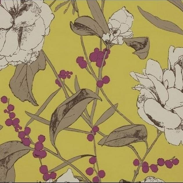 Nice Papier Peint Grande Largeur #4: Papier Peint Beatrix - Papiers Peints Par éditeurs/Romo - Le Boudoir Des  Etoffes