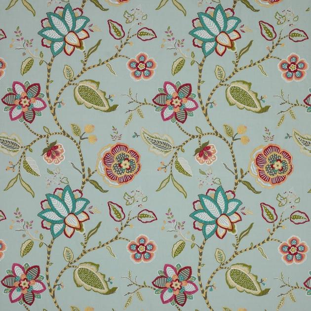 tissu-ameublement-brode-fleurs-havana-2