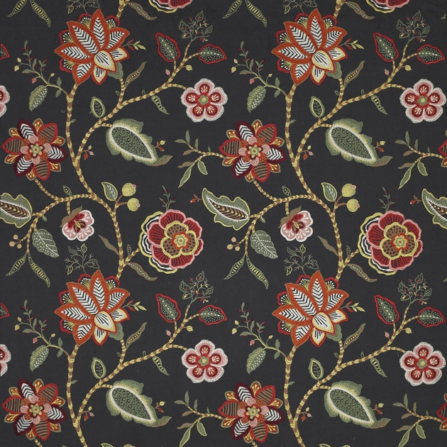 tissu-ameublement-brode-fleurs-havana-4