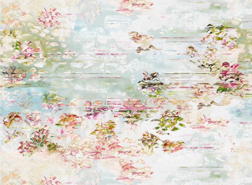 Papier peint panoramique pleasure gardens papiers peints for Papier peint effet peinture