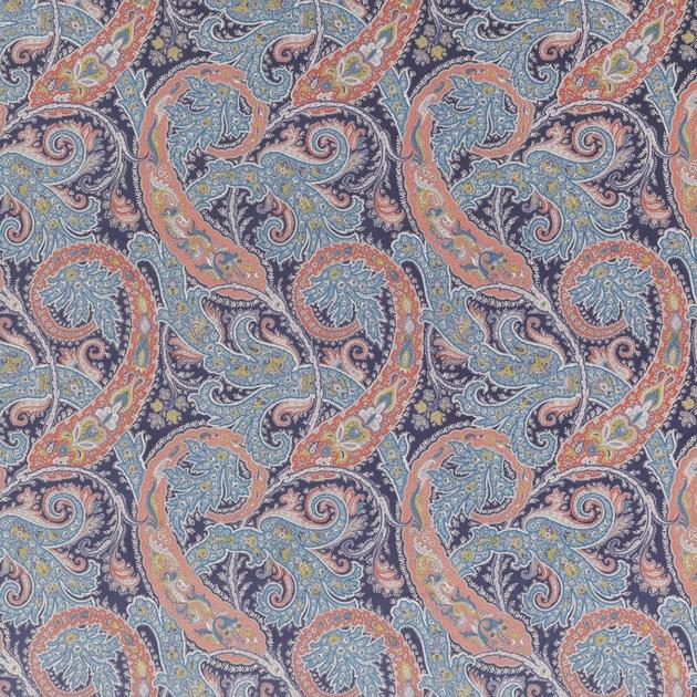 Tissu-motif-ethnique-Pasha-Patara-F6740-02-marine-rouge