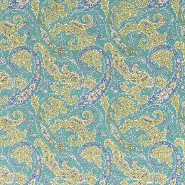 Tissu-motif-ethnique-Pasha-Patara-F6740-02-turquoise