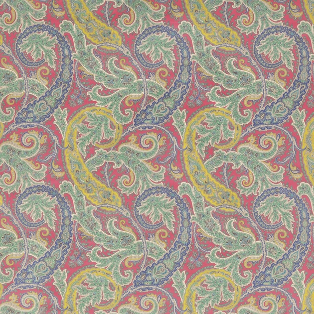 Tissu-motif-ethnique-Pasha-Patara-F6740-02-jaune-rouge-bleu