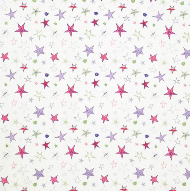 Tissu-janechurchill-shooting stars-pink.green