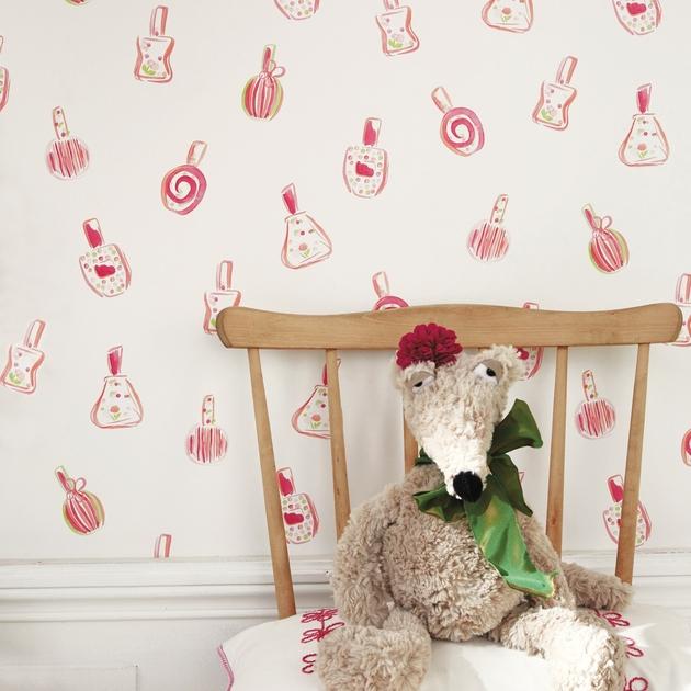 papier peint coquette enfants papiers peints le. Black Bedroom Furniture Sets. Home Design Ideas
