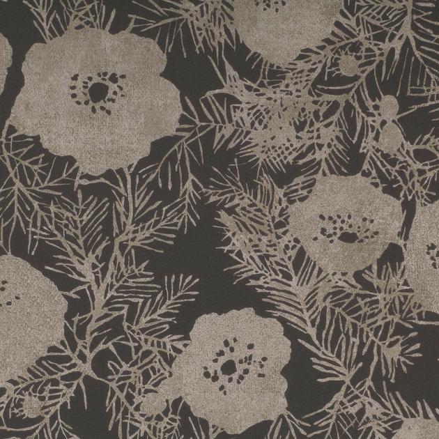 W402-05-lomasi-wallcovering-charcoal_papier-peint-fleurs-metalise