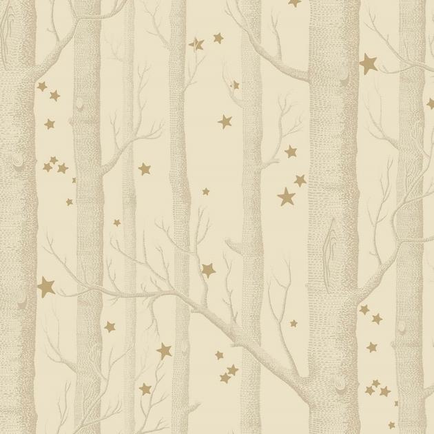 papier-peint-cole-son-arbre-etoile-woods-stars-11049-beige-or