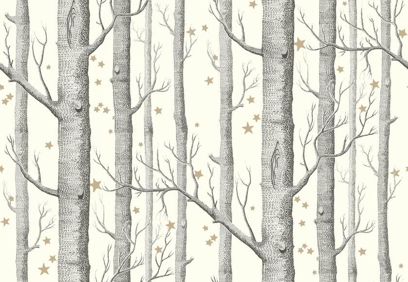 papier-peint-cole-son-arbre-etoile-woods-stars-11050-blanc-casse -le