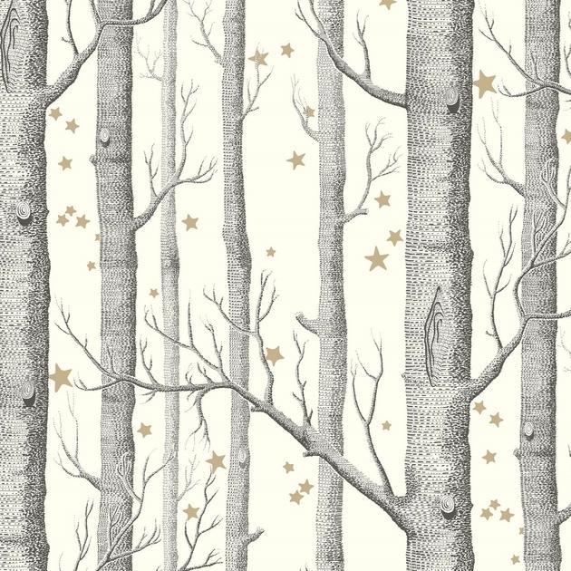papier-peint-cole-son-arbre-etoile-woods-stars-11050-blanc-casse