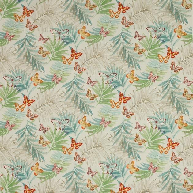 tissu-papillons-fleurs-exotique-multicolor-01