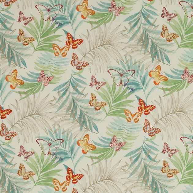 tissu-exotique-papillon-fougere
