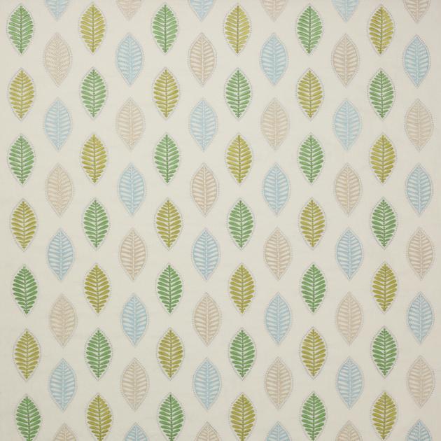 tissu-feuille-stylisee-bleu-vert-alyssa