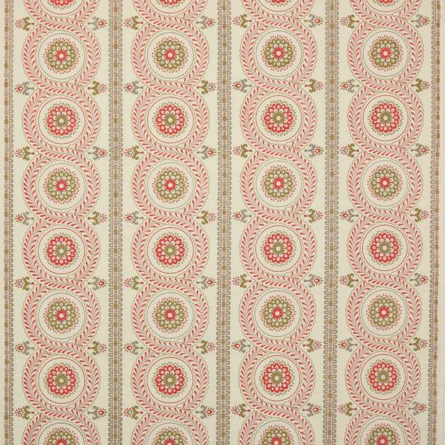 tissu-ameublement-rideaux-brode-motif-rond-rayure-rose