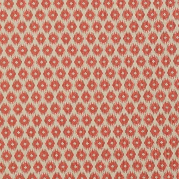 tissu-ameublement-motif-geometrique-ikat-rouge-rose