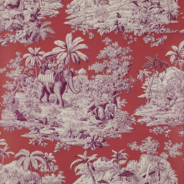 Papier peint bengale papiers peints par diteurs manuel - Papier peint toile de jouy rouge ...