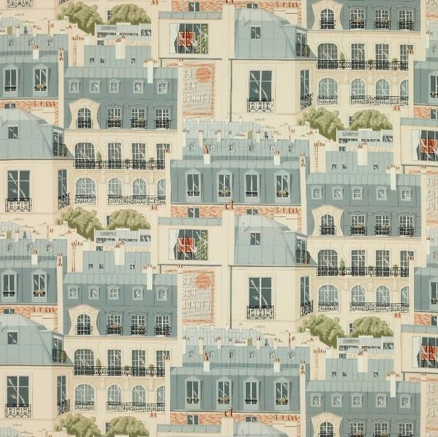 Tissu Les Toits De Paris Tissus Par Editeur Manuel Canovas Le
