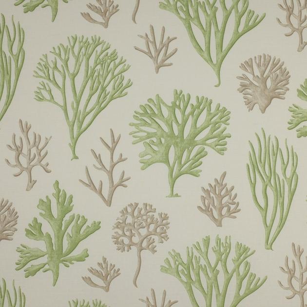 tissu-oceana-coraux-corail-vert-jane-churchill-J589F