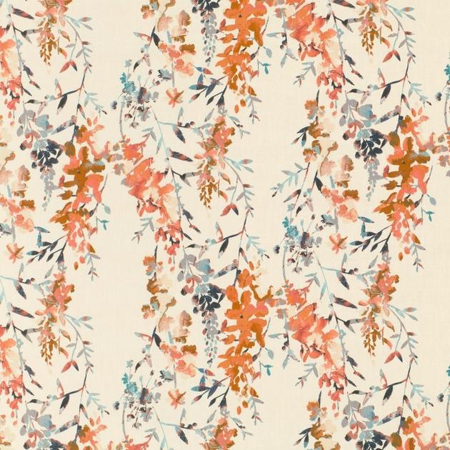 Tissu-fleuris-hana-villa-nova-orange