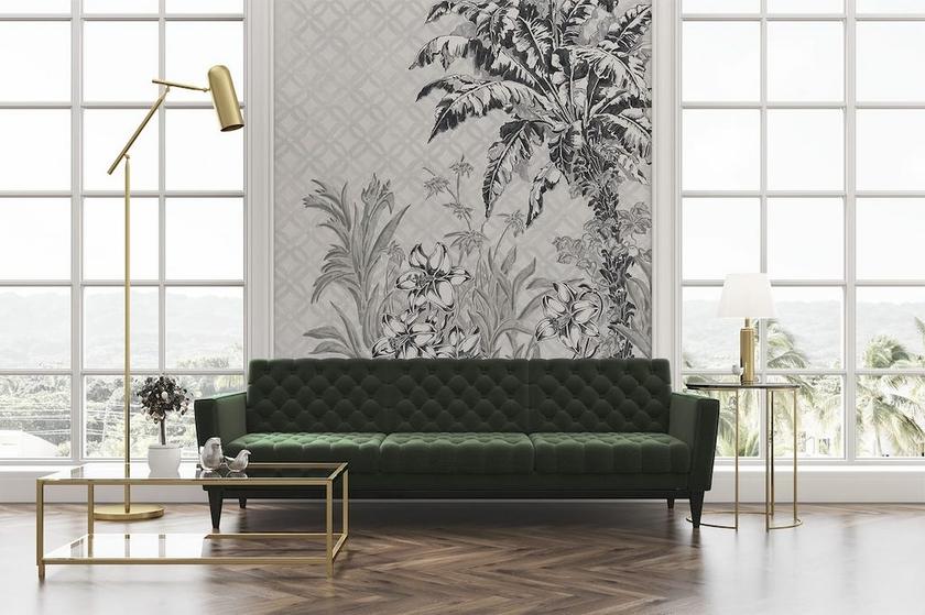 papier-peint jungle-patio-invierno-noir-blanc-YSP0128-visuel