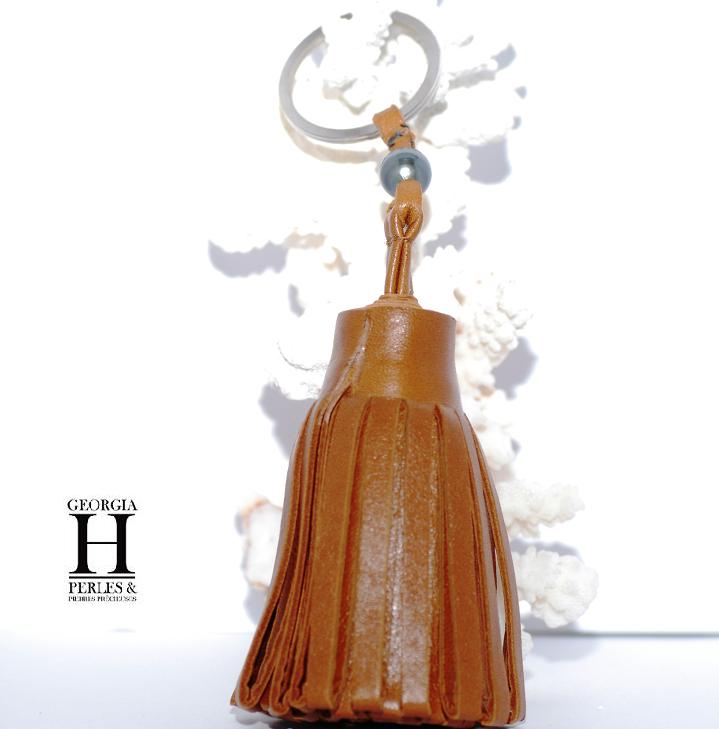 Pompon caramel 1 perle de Tahiti