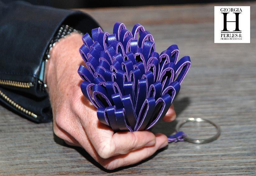 Ponpon Violet et perle de tahiti (6)