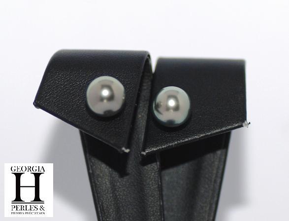 Boucles doreilles Boutons perles de tahiti (2)
