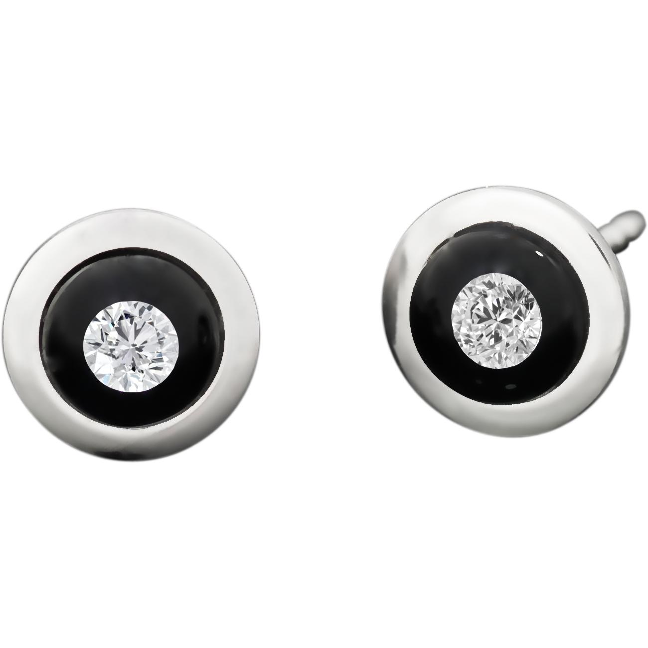 Boutons d\'oreilles 8.7mm, diamants flottant dans perles de verres, monture acier
