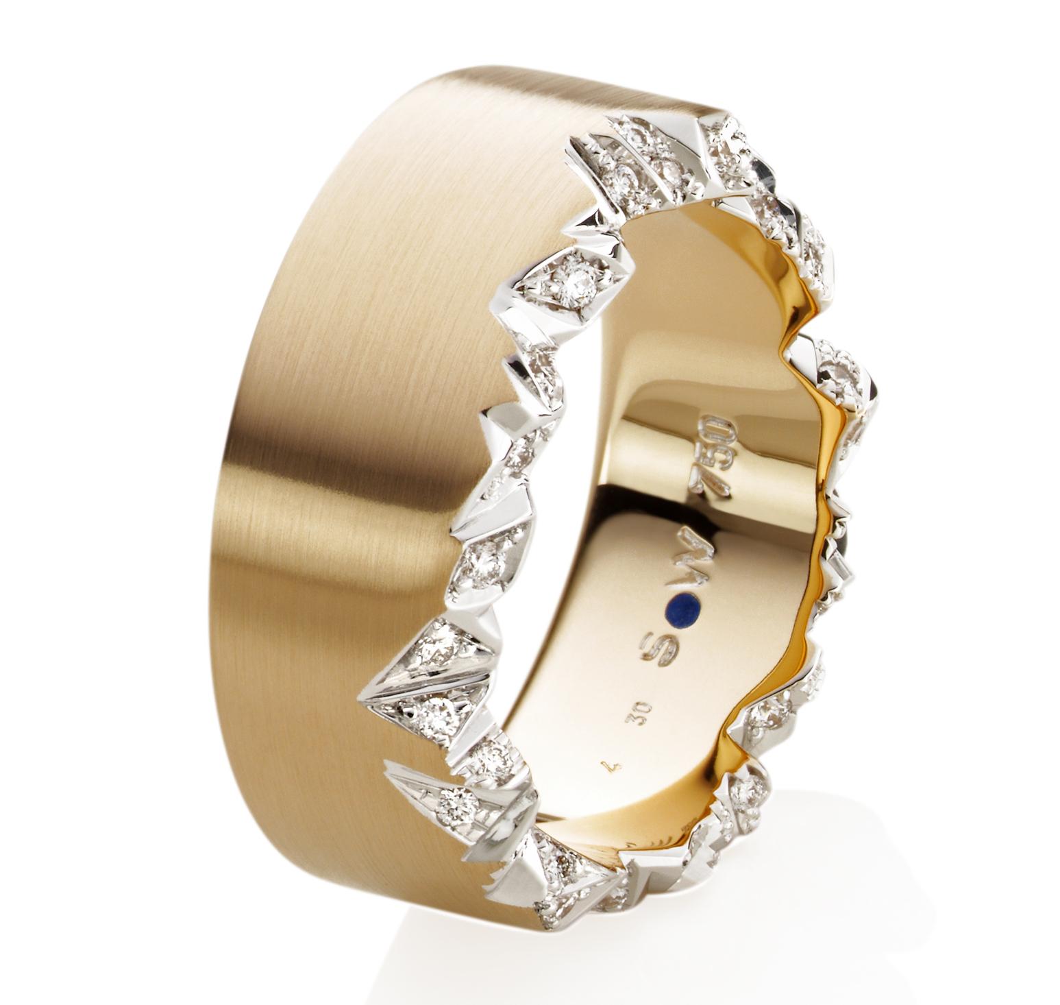 Bague Pyrénées or rose et diamants