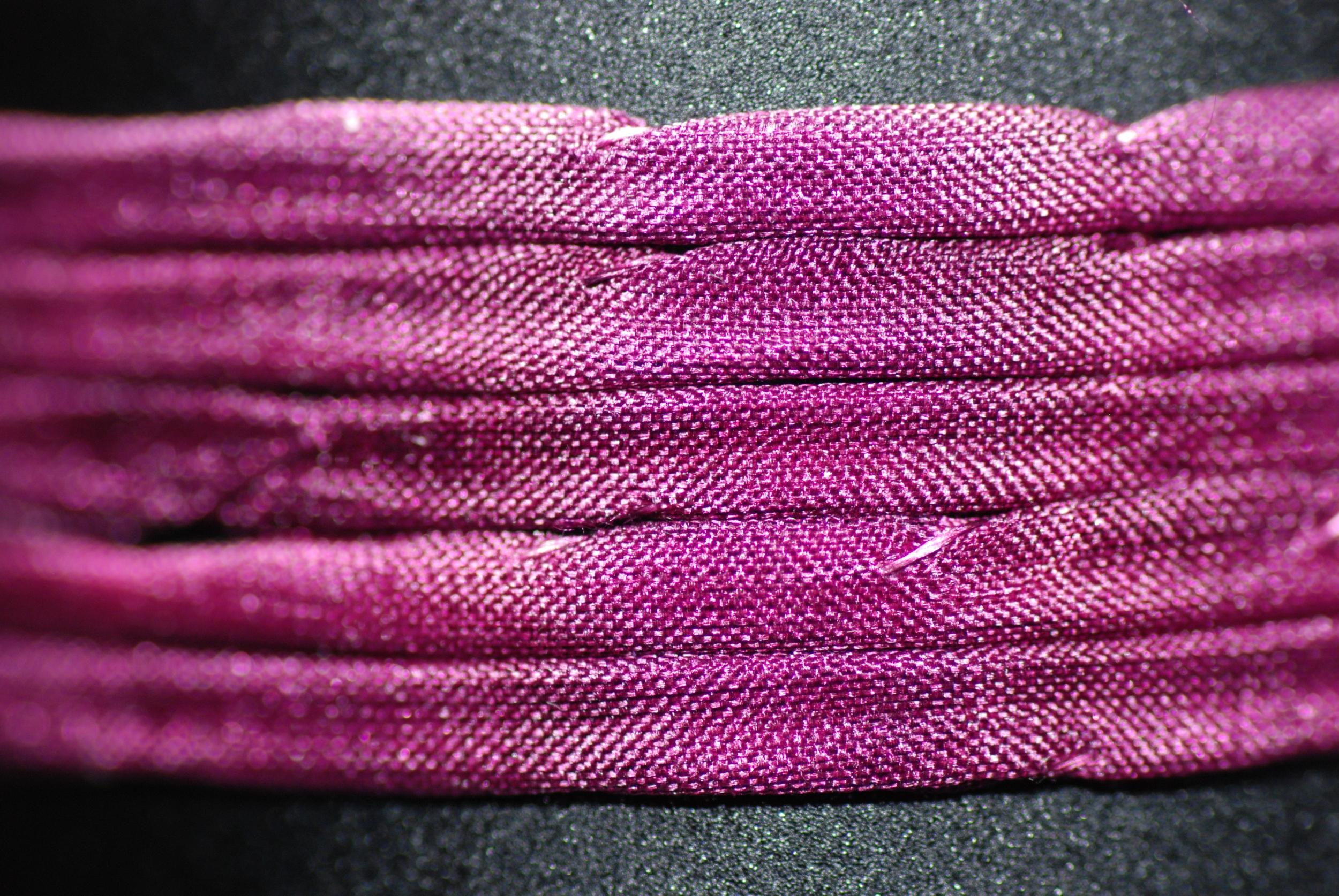 Cordon de soie Ibiza couleur Aubergine